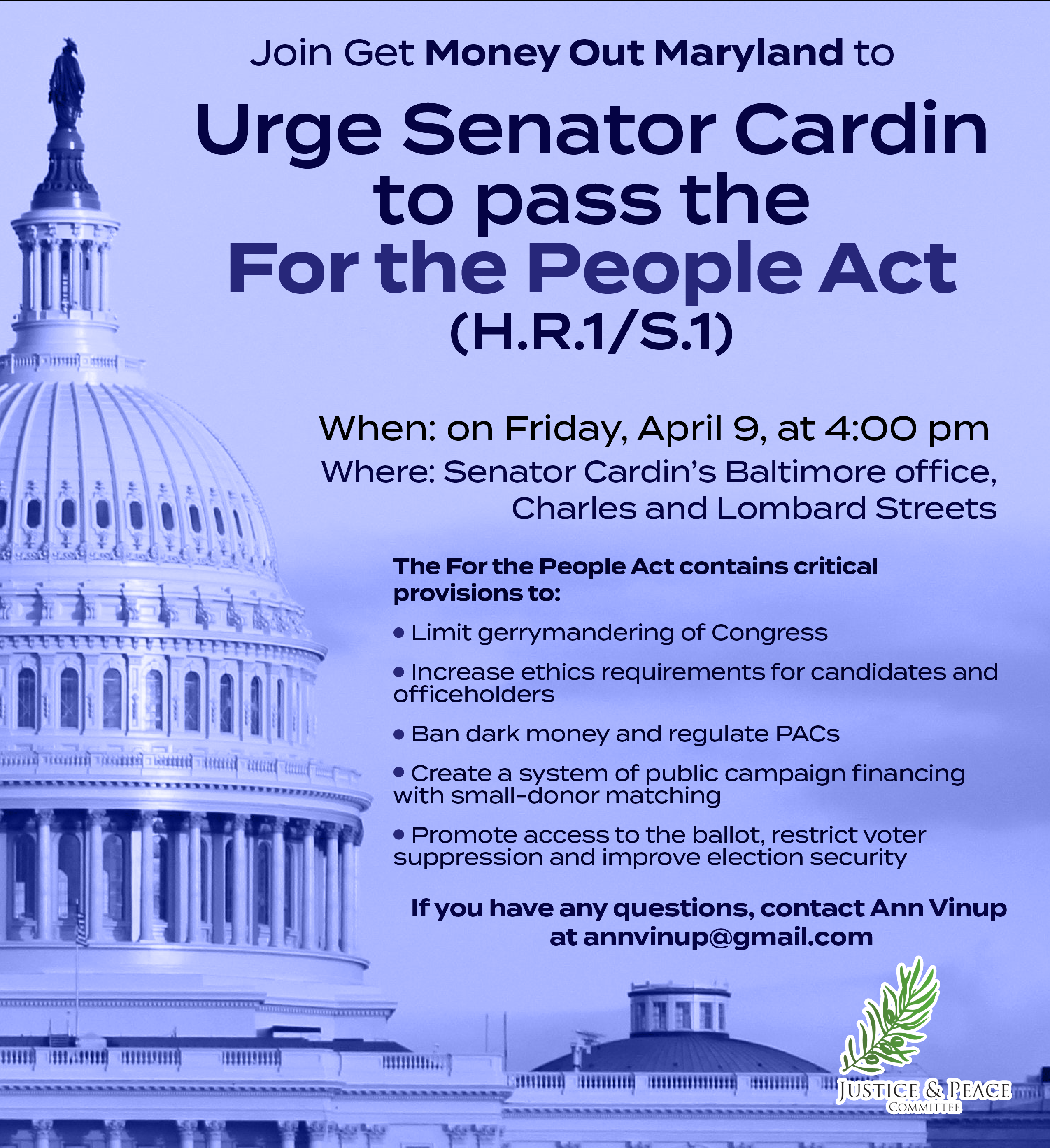 Urge Our Senators to pass the For the People Act